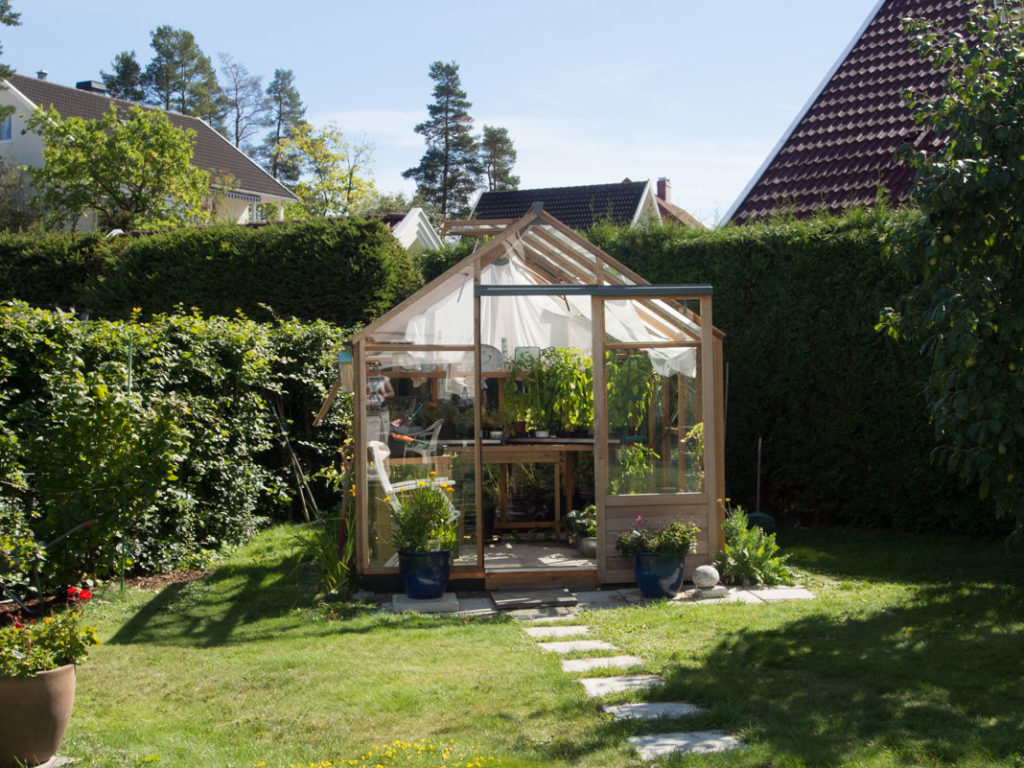 Juliana Classic drivhus fra Tilboligen i hagemiljø