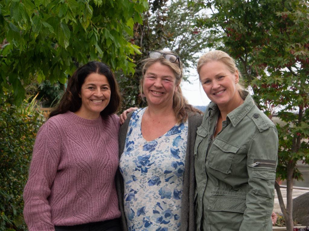 Maria, Heidi og Camilla. For hage på resept, hagen min på NRK